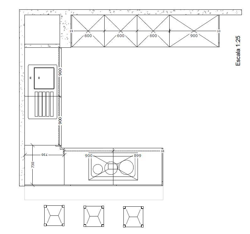 Medidas de altura muebles de cocina ideas for Medidas muebles bajos cocina